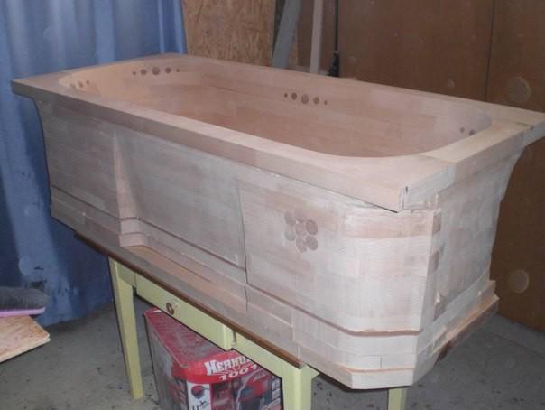 Сделать ванну из дерева