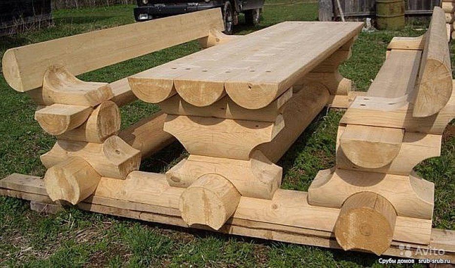 Как сделать из бревен мебель