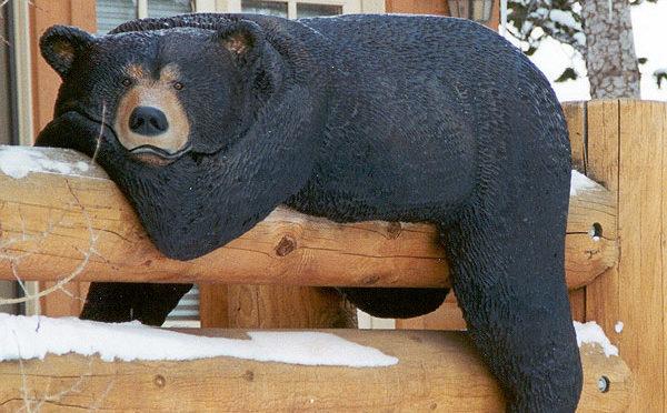 Медведь из дерева своими руками