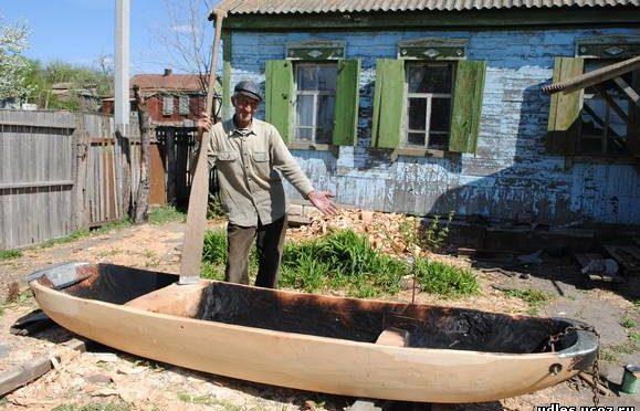 Лодка «Долбленка» по старинной технологии