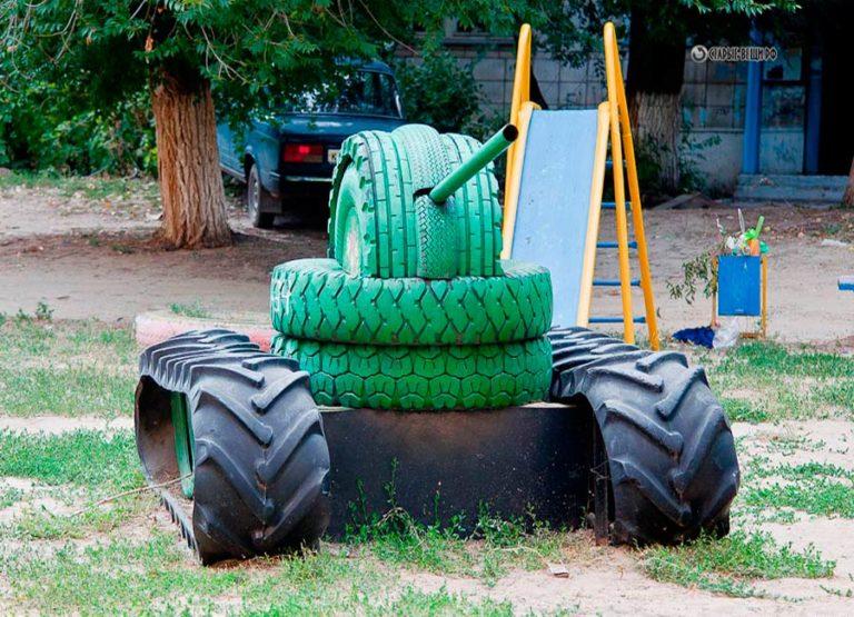 Детская площадка из колес