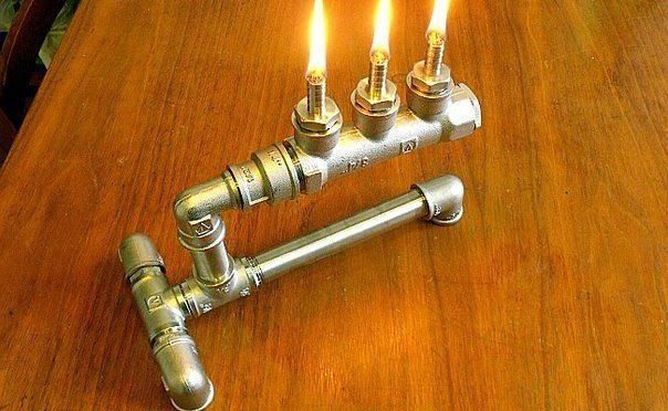 Керосиновый светильник из фитингов