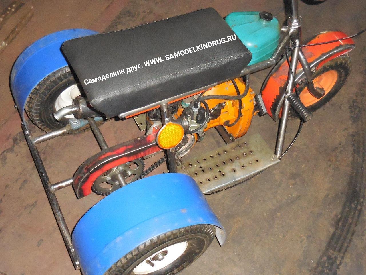 Трицикл из мотоблока своими руками