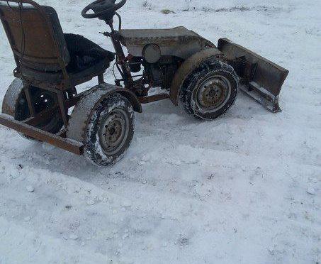 Мини-трактор переломка из мотоблока