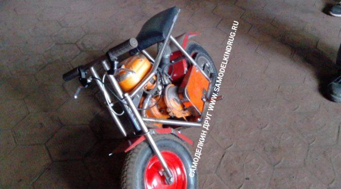 Мопед с двигателем от бензопилы своими руками | чертежи