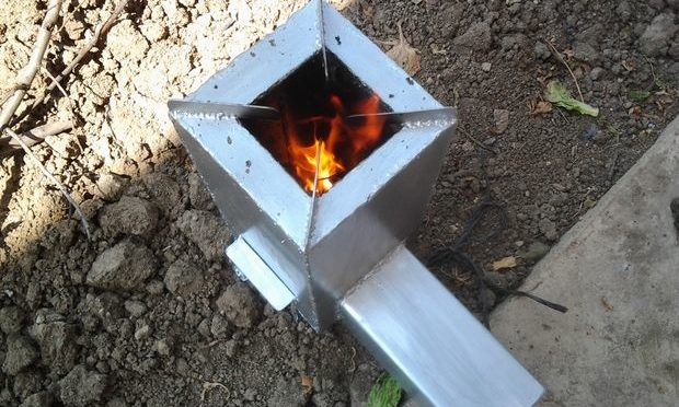 Печь-ракета