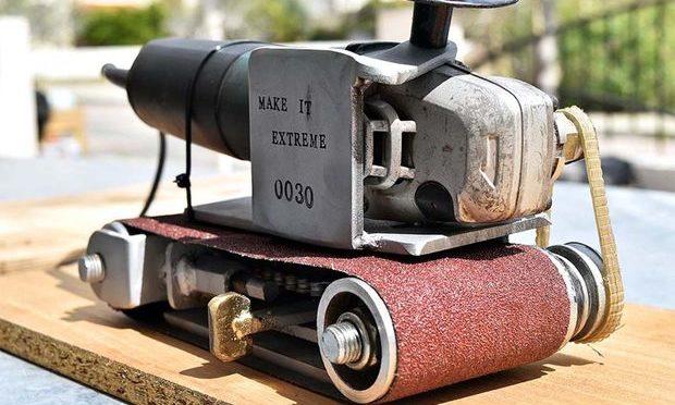 Как сделать шлифовальный станок из болгарки своими руками