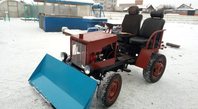 Самодельный мини-трактор с отвалом