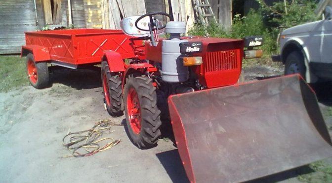 Самодельный мини-трактор Т2-4К-14