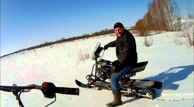Как сделать снегоход из скутера своими руками
