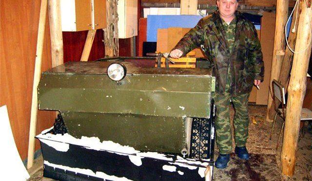 Бортоповортный мини-вездеход 4х4