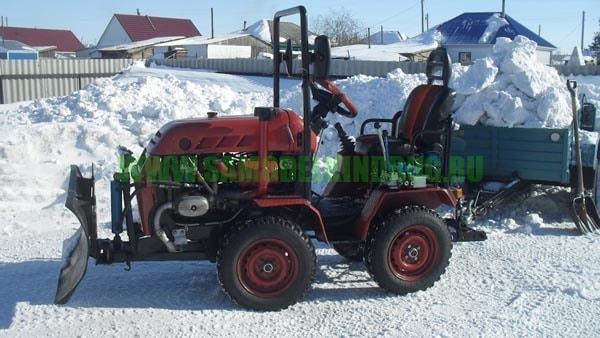 Мини-трактор с двигателем от мотоцикла Урал