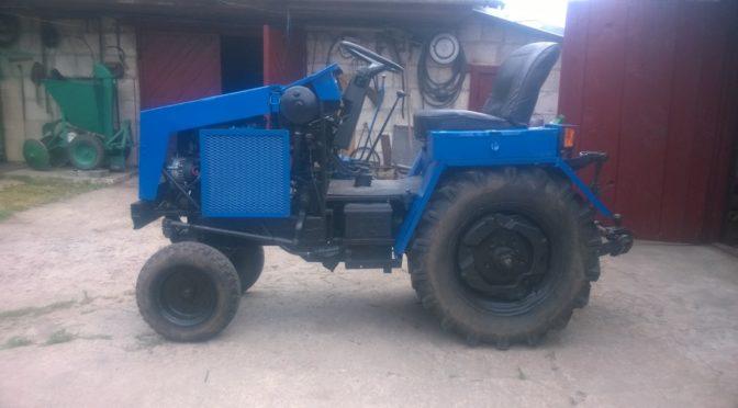 Самодельный мини-трактор замена ДВС УД-25 на автомобильный ОКА