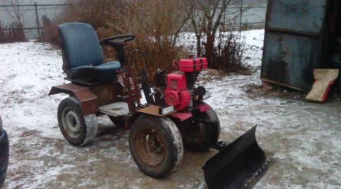 Самодельный мини-трактор переломка 4х2 из мотоблока