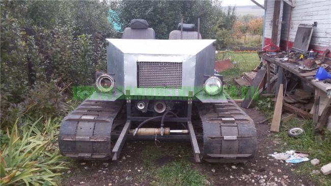 Самодельный гусеничный мини-трактор