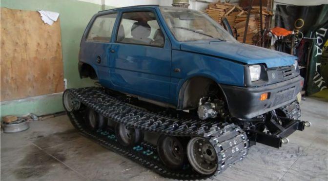 Самодельный гусеничный вездеход на базе автомобиля ОКА