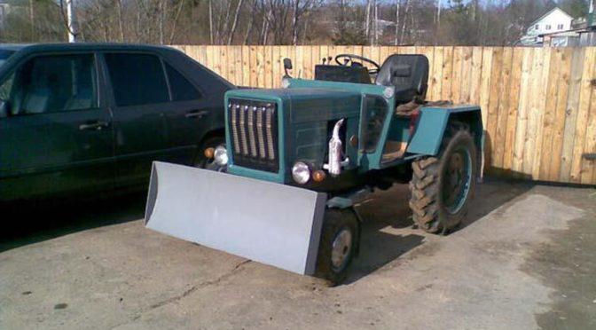 Самодельный мини-трактор с ДВС от Запорожца