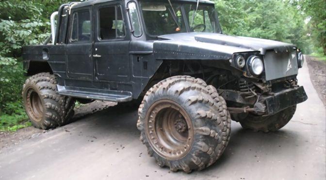 Самодельный гипервнедорожник ГАЗ-66 Пуговка