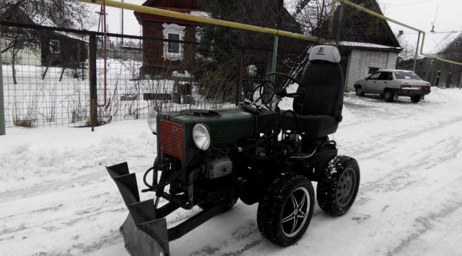 Самодельный мини-трактор с двигателем от мотоцикла Днепр
