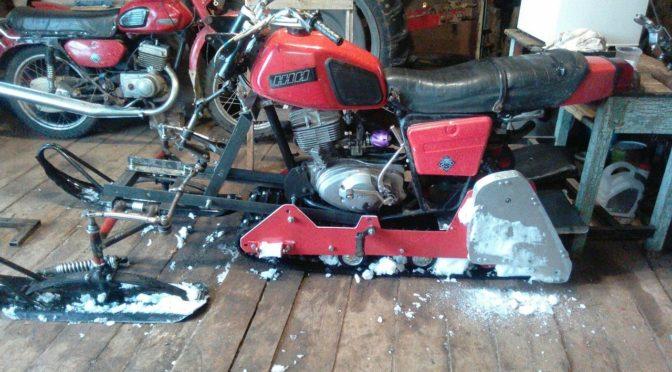 Самодельный снегоход на базе мотоцикла ИЖ ПЛАНЕТА-5