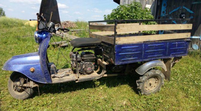 Установка двигателя Lifan на грузовой мотороллер Муравей