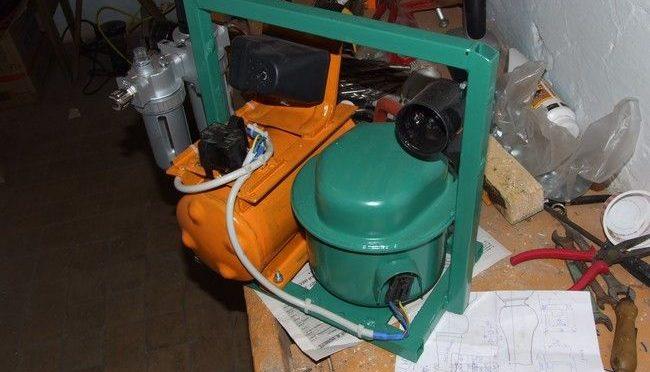 Самодельный  воздушный компрессор из мотора от холодильника