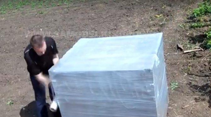Бак для воды из стрейч пленки на 1000 л