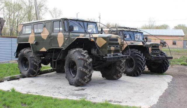 ГАЗ 66 на шинах низкого давления