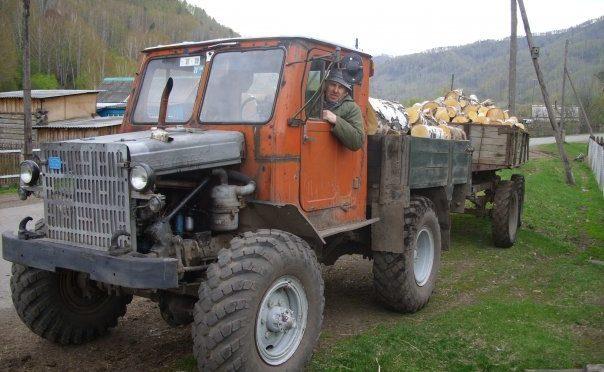 Самодельный трактор на базе ГАЗ 63