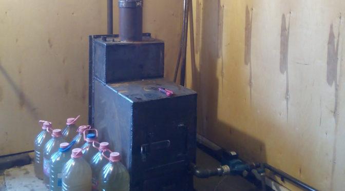 Печь для гаража с водяной системой отопления