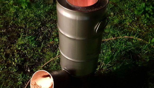 Печь ракета из кислородного баллона своими руками