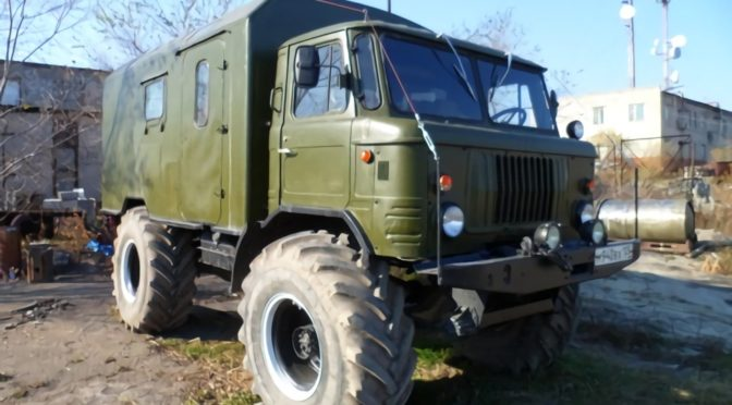 ГАЗ 66 на тракторных колесах от Т 150