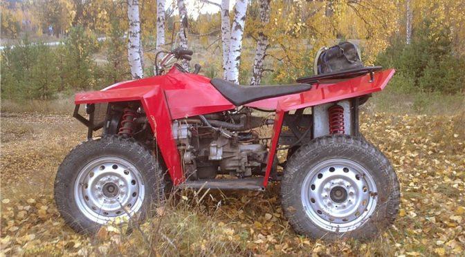 Самодельный квадрацикл с двигателем ВАЗ 2108
