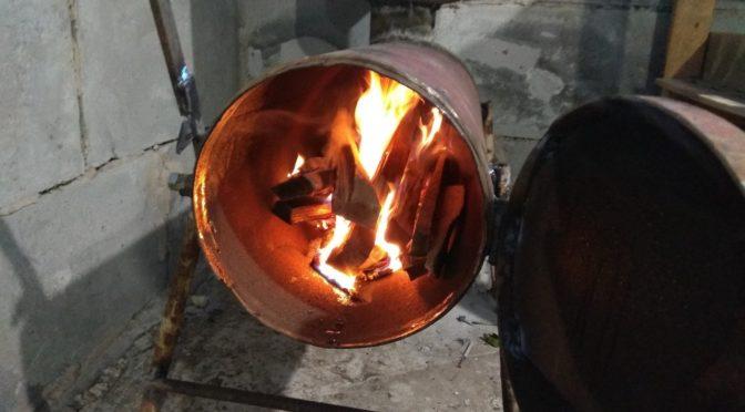 Печь из газовых баллонов с повышенным КПД