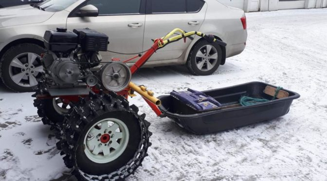 Мотоблок вездеход-снегоход