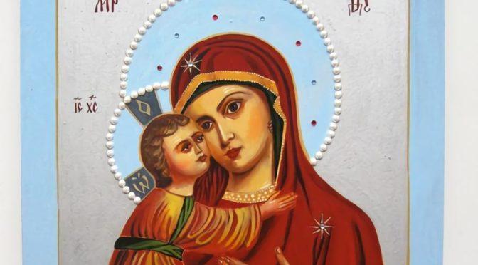 Икона Владимирской Божьей Матери своими руками