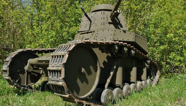 Модель Советского танка «МС-1» (Т-18) в натуральную величину