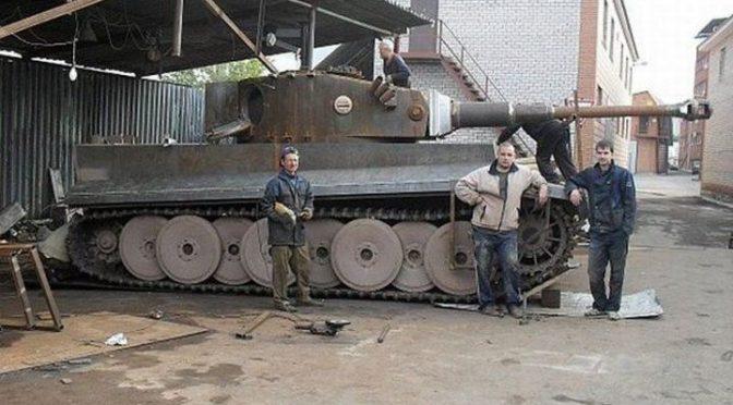 Модель танка «Тигр» в натуральную величину