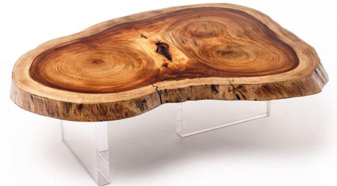 Журнальный столик из спила дерева.