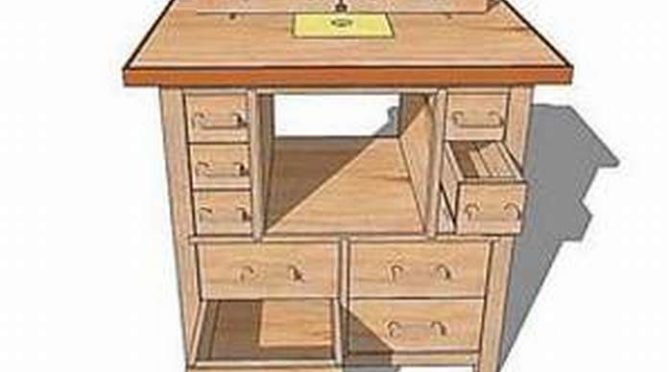 Подробный чертеж фрезерного стола