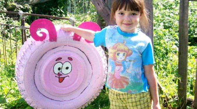 Игрушки и площадки из покрышек для детей