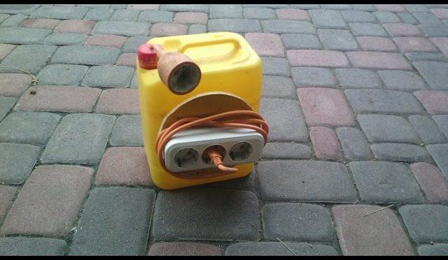 Электрический удлинитель из канистры