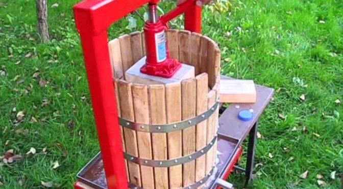 Как сделать гидравлическую соковыжималку и измельчитель яблок своими руками