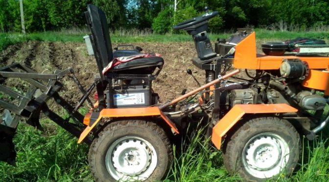 Мини-трактор с двигателем от мотоцикла Урал| Пошаговые фото сборки
