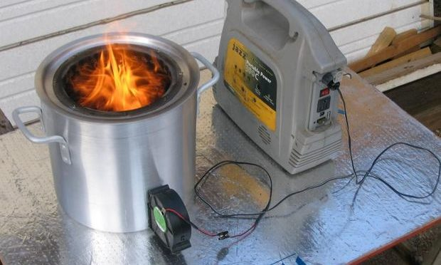 Как сделать печь на древесном газу своими  руками