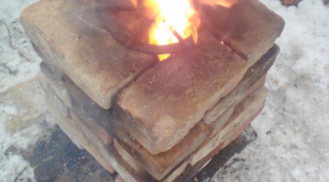 Печь-ракета из кирпича
