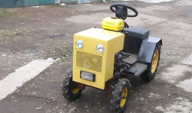 Самодельный мини-трактор с генератором