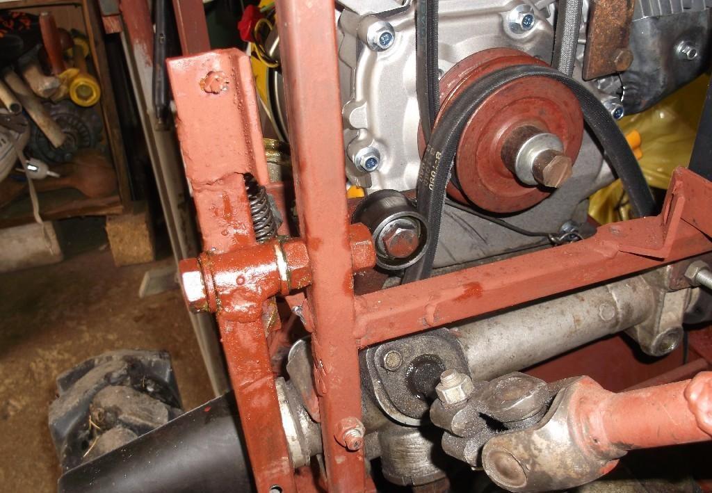 Фото ременного сцепления для самодельного трактора
