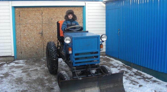 Самодельный мини-трактор с ДВС УД-25