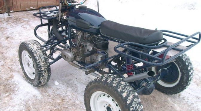 Самодельный квадроцикл с ДВС Урал